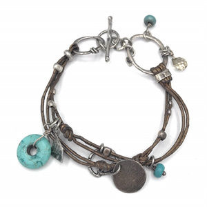 B2086 Retired Silpada Mixed Metal Bracelet